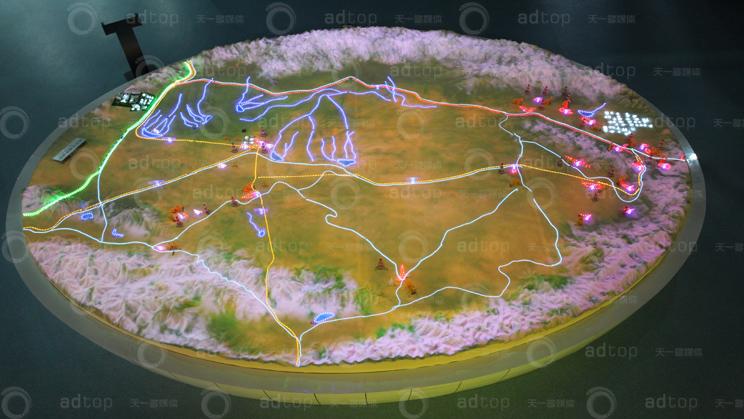 青海石油科技馆数字投影沙盘